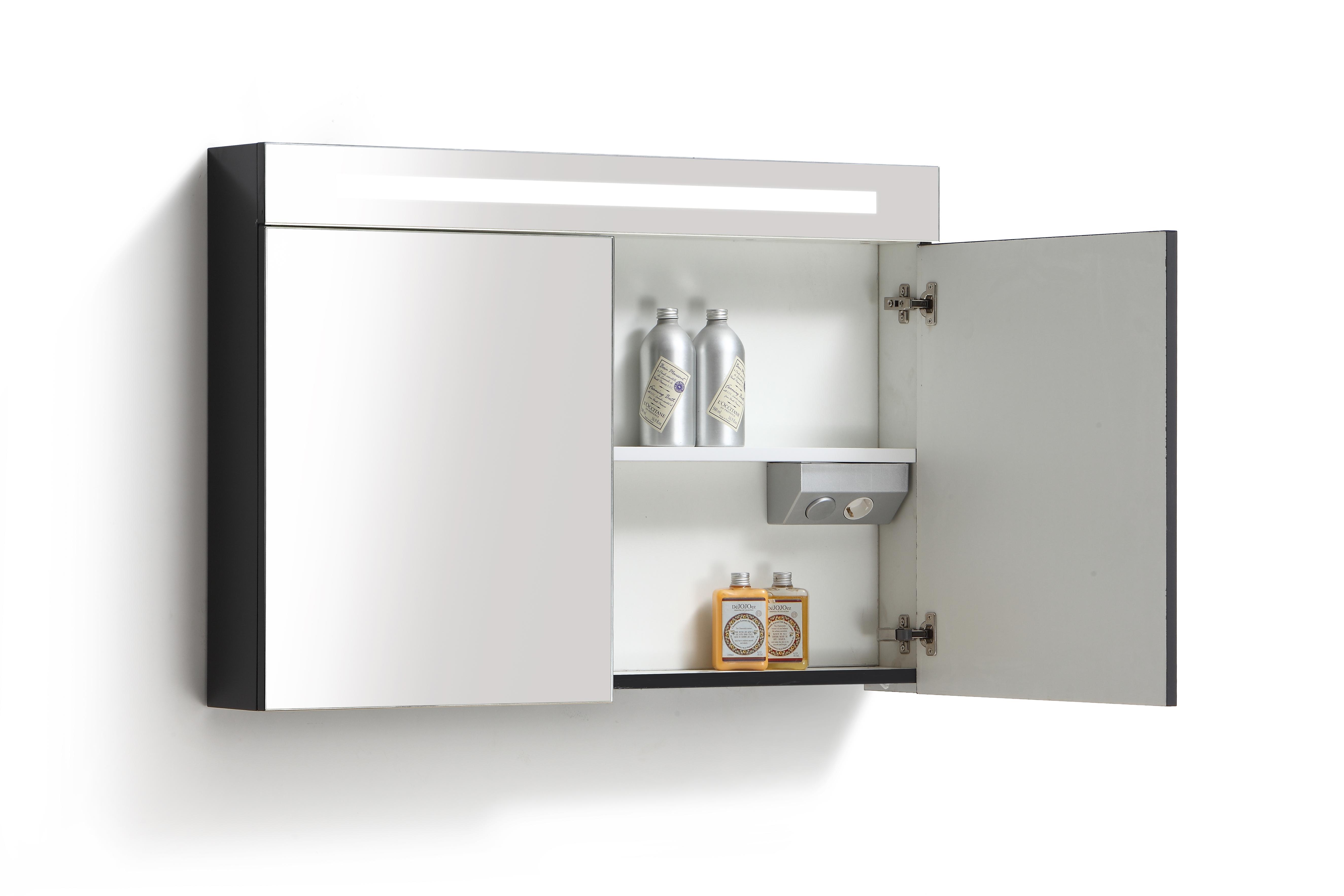 Spiegel spiegelkast for Spiegelkast 60 cm breed